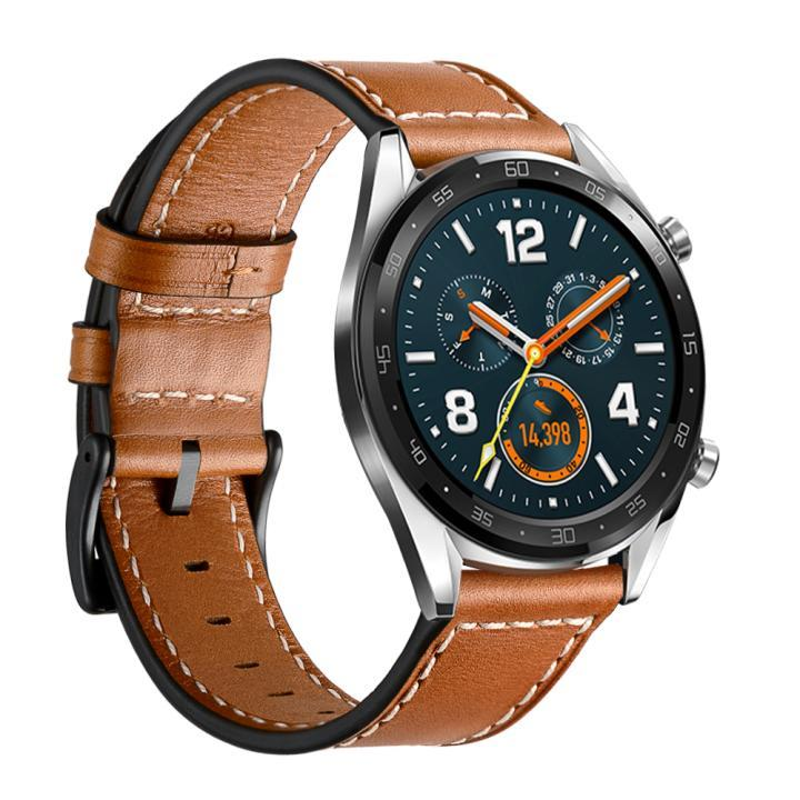 Genuine Leather Watch Band for Huawei GT 2 / GT 2E