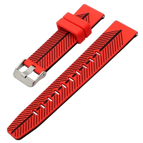 Quick Release Double Colors Silicone Watch Band for Fossil
